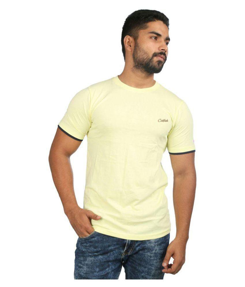 Catfish Yellow Round T-Shirt