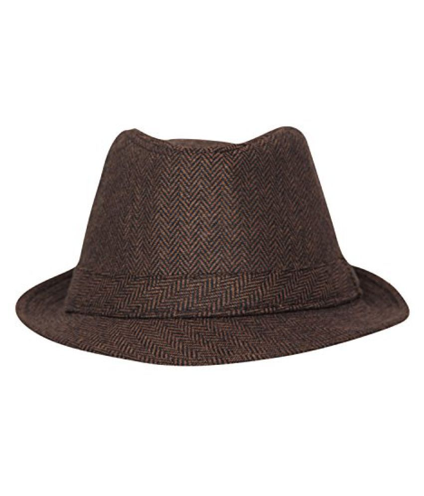 FabSeasons Casual Self Design Fedora Hat