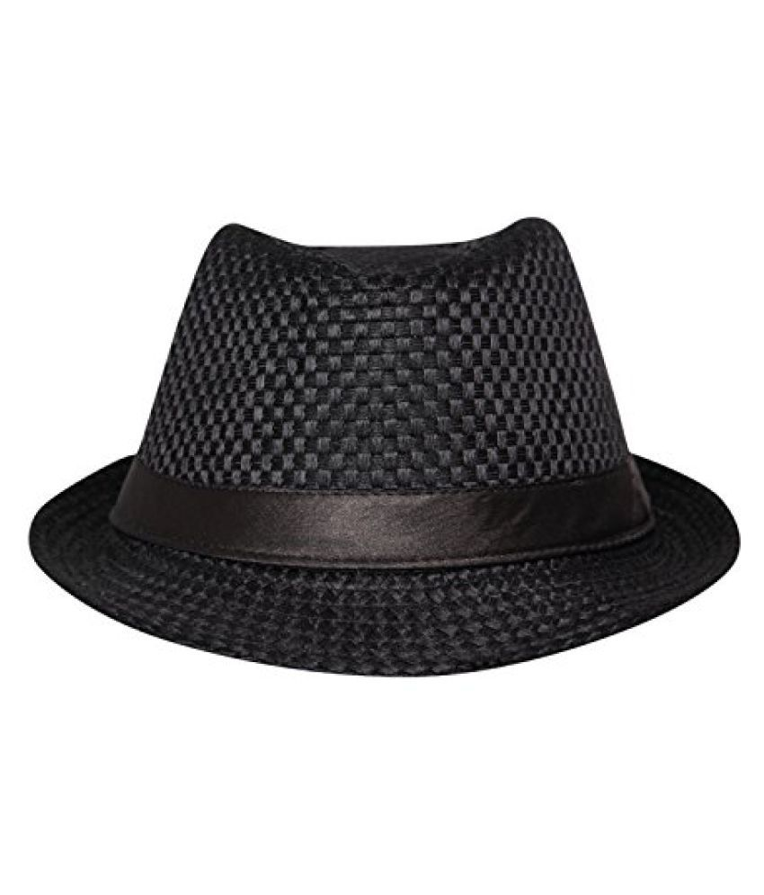 FabSeasons Casual Self Design Fedora Hat