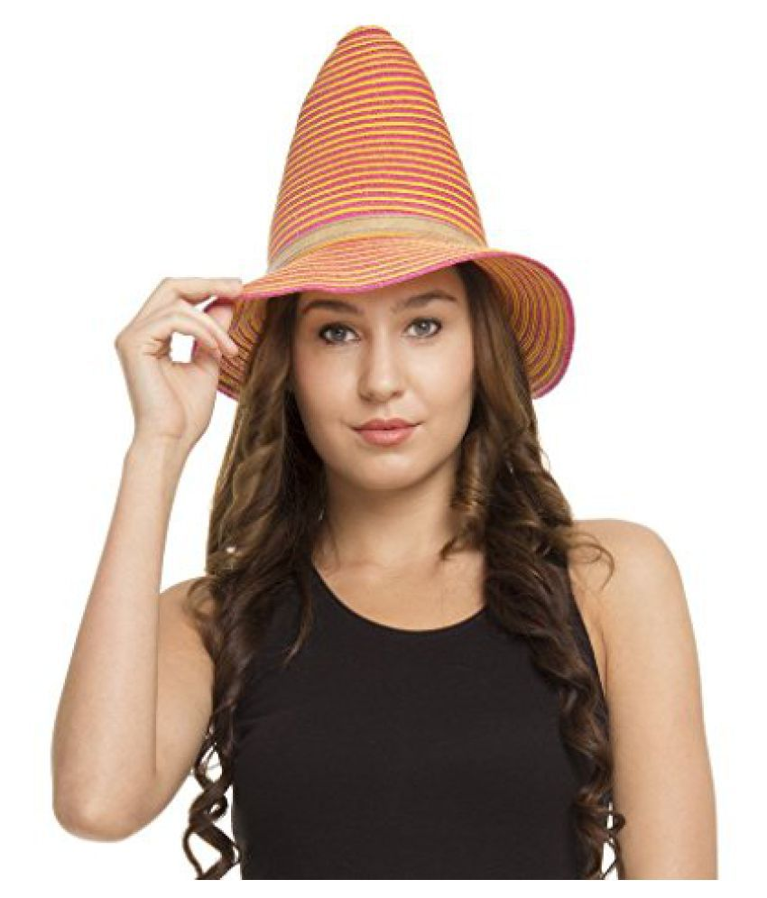 FabSeasons Pink Fancy Hat for Women