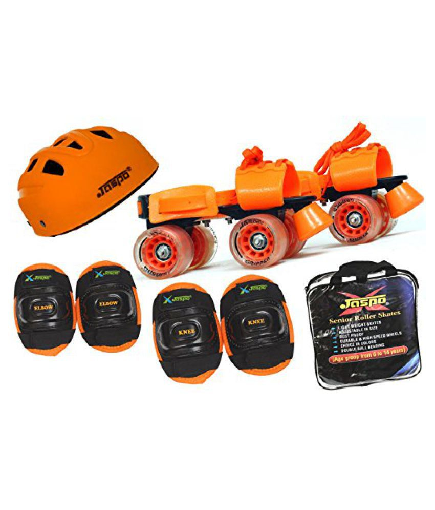 Jaspo Thunder Intact Superior Senior Skates Combo (skates+helmet+knee+elbow+bag)suitable for age upto 6 to 14 years