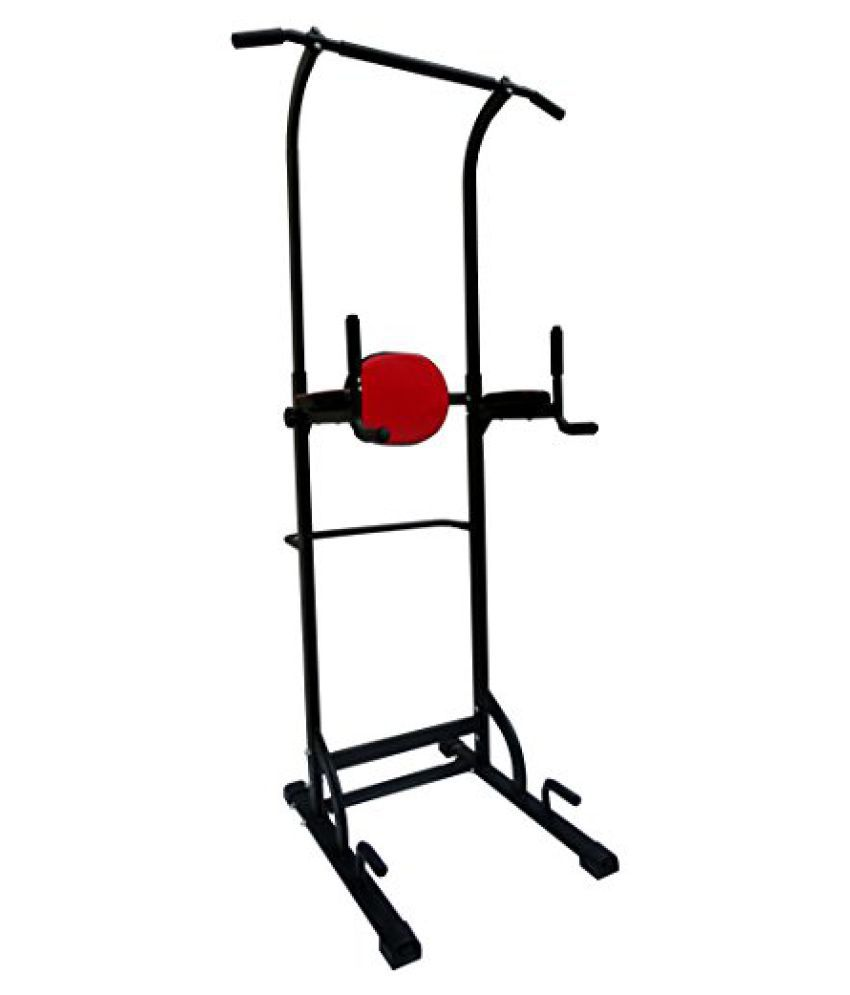 Kobo PT-1 Power Tower Steel Power Tower Gym (Black/Red)