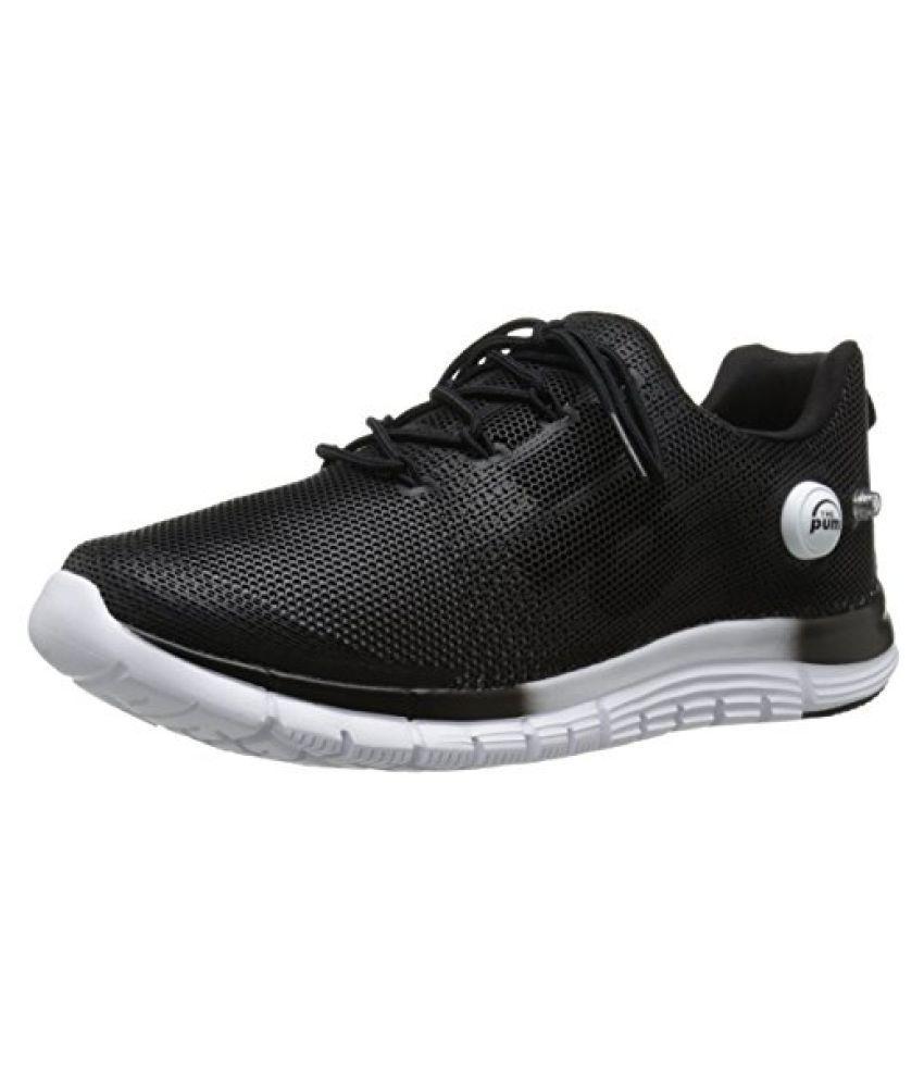 Reebok Men s ZPump Fusion Polyurethane Running Shoe Black / White 8 D(M) US
