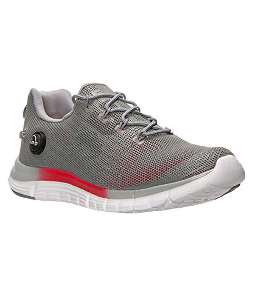 Reebok Men s ZPump Fusion Polyurethane Running Shoe Grey/Red/White/Black/Silver 10 D(M) US