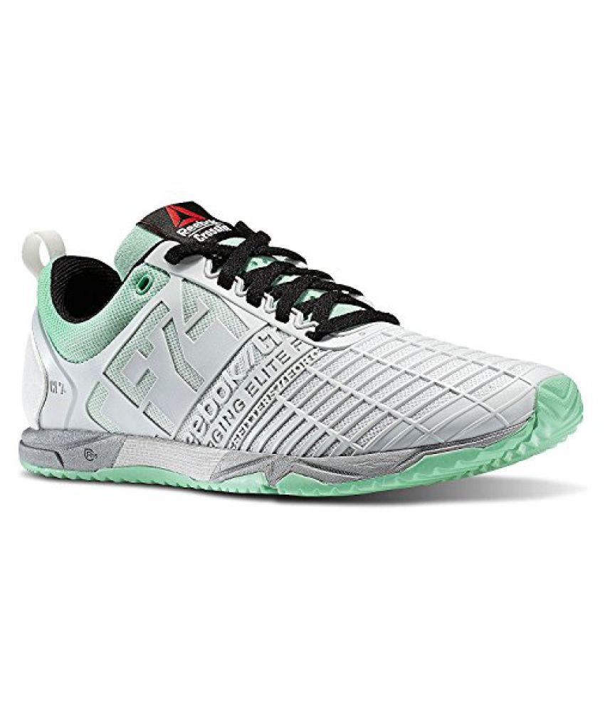 Reebok Womens Crossfit Athlete Select Pack Sprint Training Sneaker in Grey Porcelain/Mint Glow/Black/Silver
