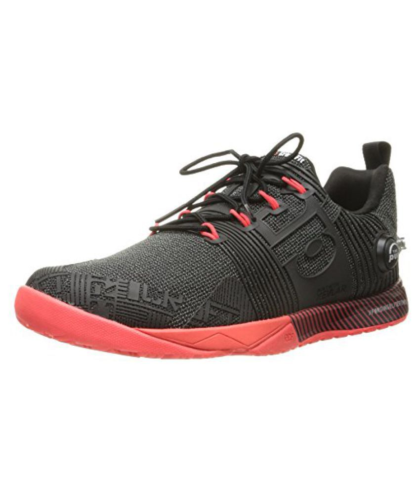 Reebok Womens Crossfit Nano Pump Fusion Training Shoe Black/Neon Cherry 8 B(M) US