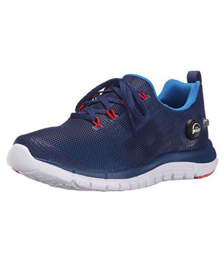 Reebok Zpump Fusion PU Running Shoe Little Kid Big Kid Cycle Blue/Club Blue/White/Red Rush 4.5 M US Big Kid