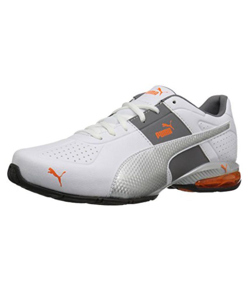 PUMA Mens Cell Surin 2 FM Cross-Trainer Shoe, Puma White/Puma Silver, 10 M US