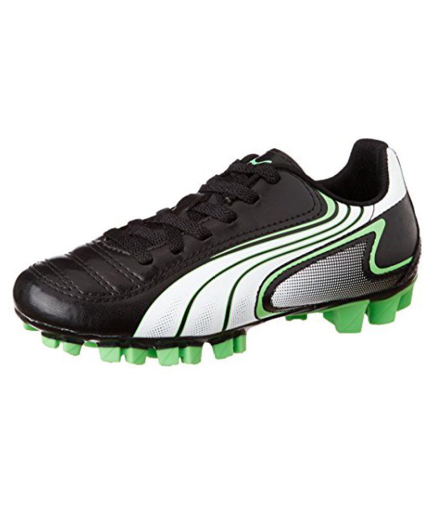 Puma Boys V6.11 Gc Jr Black, White and Fluro Green Sports Shoes - 1 UK/India (33 EU)