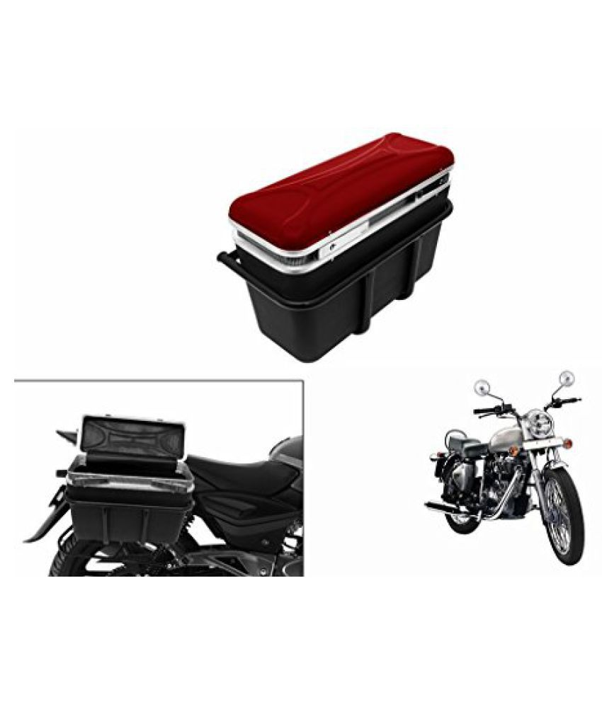 Speedwav DLB-1 Bike Double Lock Luggage Box Red-R Enfield Electra Twin Spark