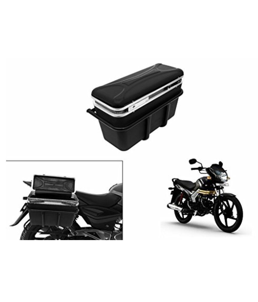 Speedwav DLB-1 Bike Double Lock Luggage Box Black-Mahindra Centuro