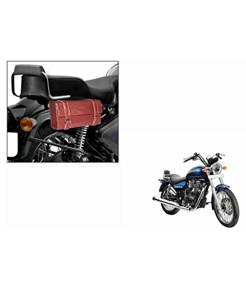 Speedwav RE02 Bike Rectangle Side Saddle Bag Brick Red-Royal Enfield Thunderbird 500 Type 2