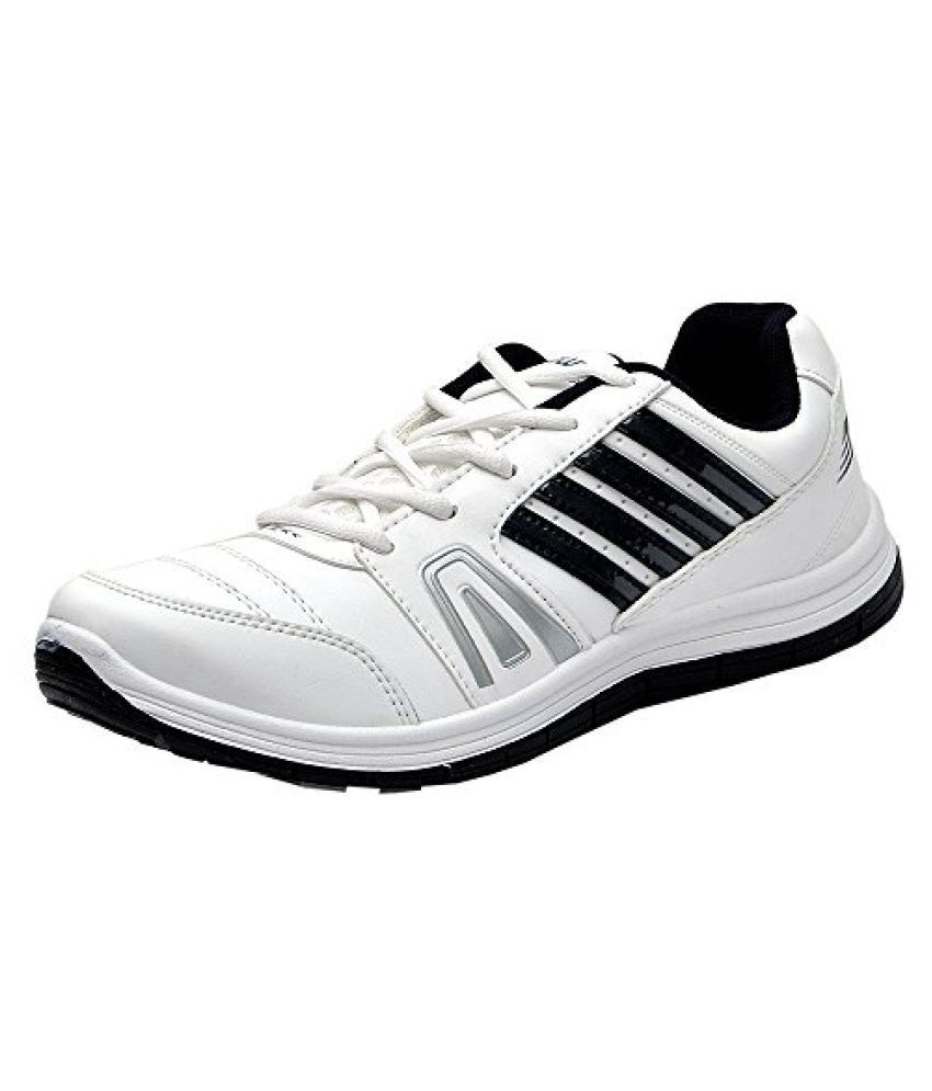 Columbus Mens White and Navy Sports Shoes (FM-15)