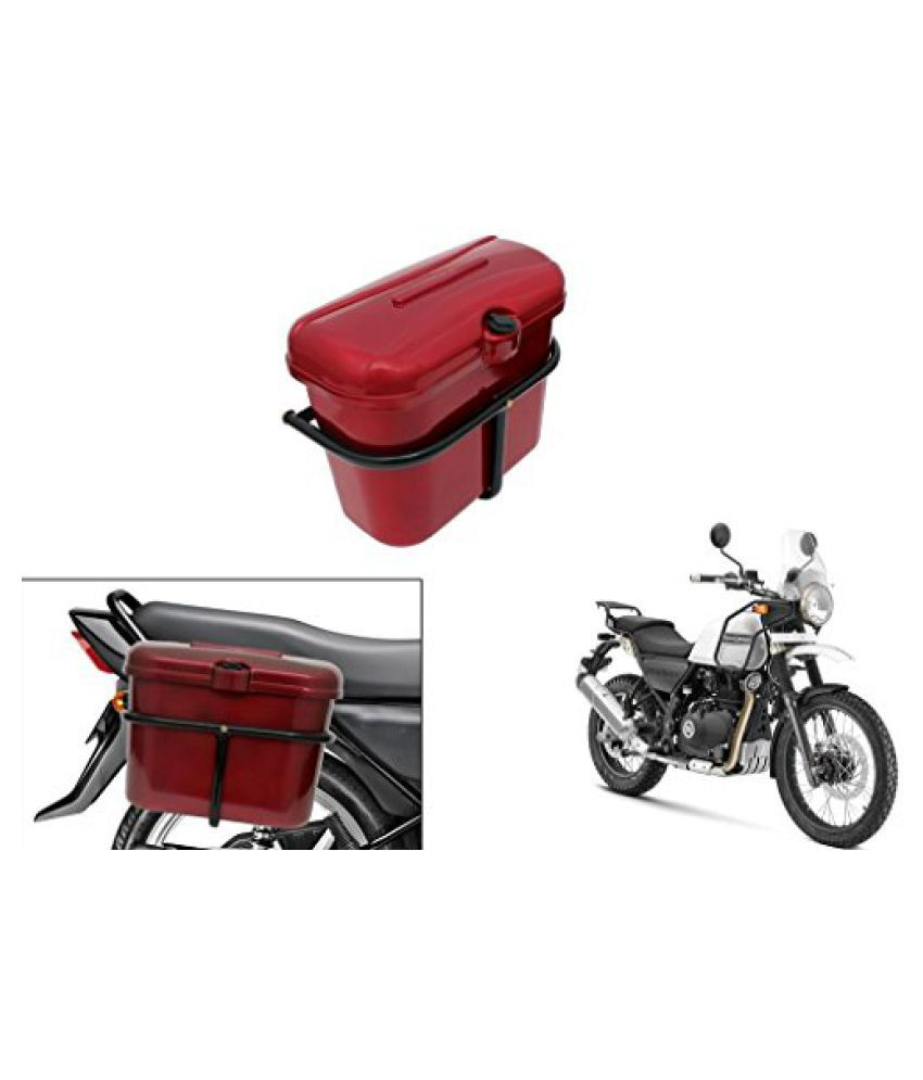 Speedwav Bike SLB-1 Side Luggage Box Red- Royal Enfield Himalayan