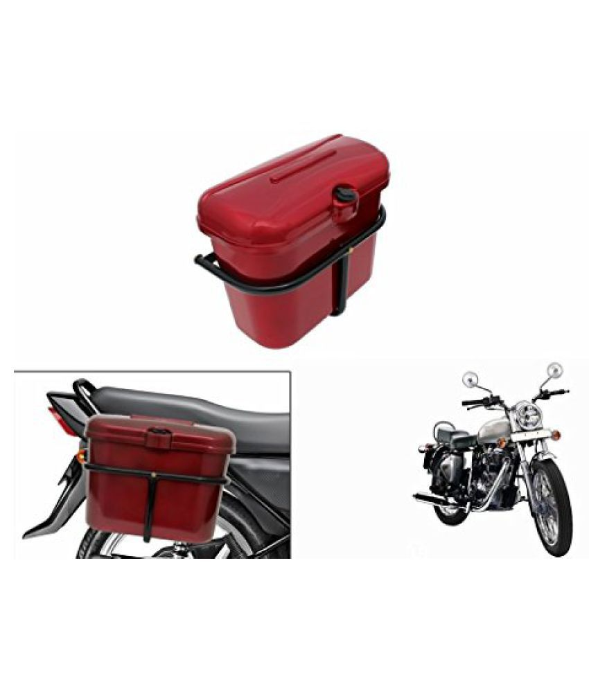 Speedwav Bike SLB-1 Side Luggage Box Red-R Enfield Electra
