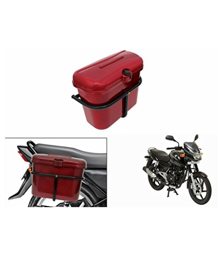 Speedwav Bike SLB-1 Side Luggage Box Red-Bajaj Pulsar 150 DTS-i Type 2