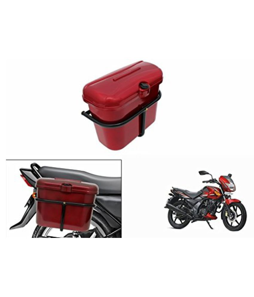 Speedwav Bike SLB-1 Side Luggage Box Red-TVS Flame SR125