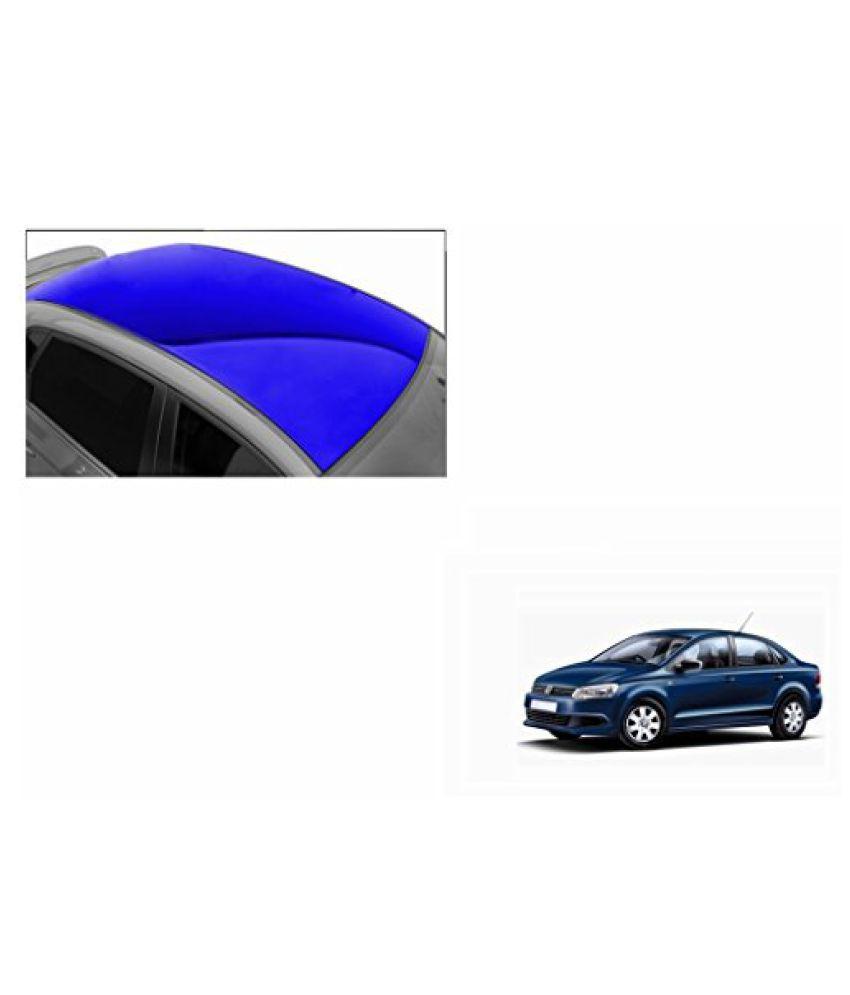 Speedwav Car Roof Glossy Wrap Sheet Blue-Volkswagen Vento Type 2 (2015-2016)