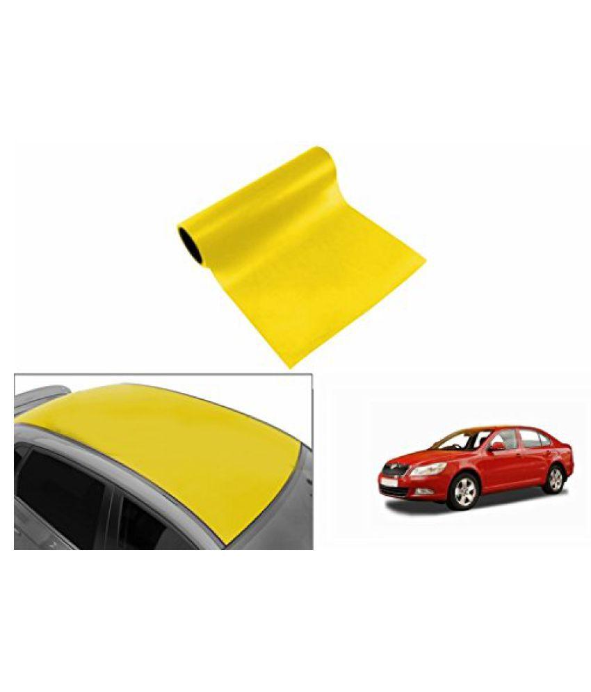 Speedwav Car Roof Glossy Wrap Sheet Neon Yellow-Skoda Laura Type 2 (2014-2015)