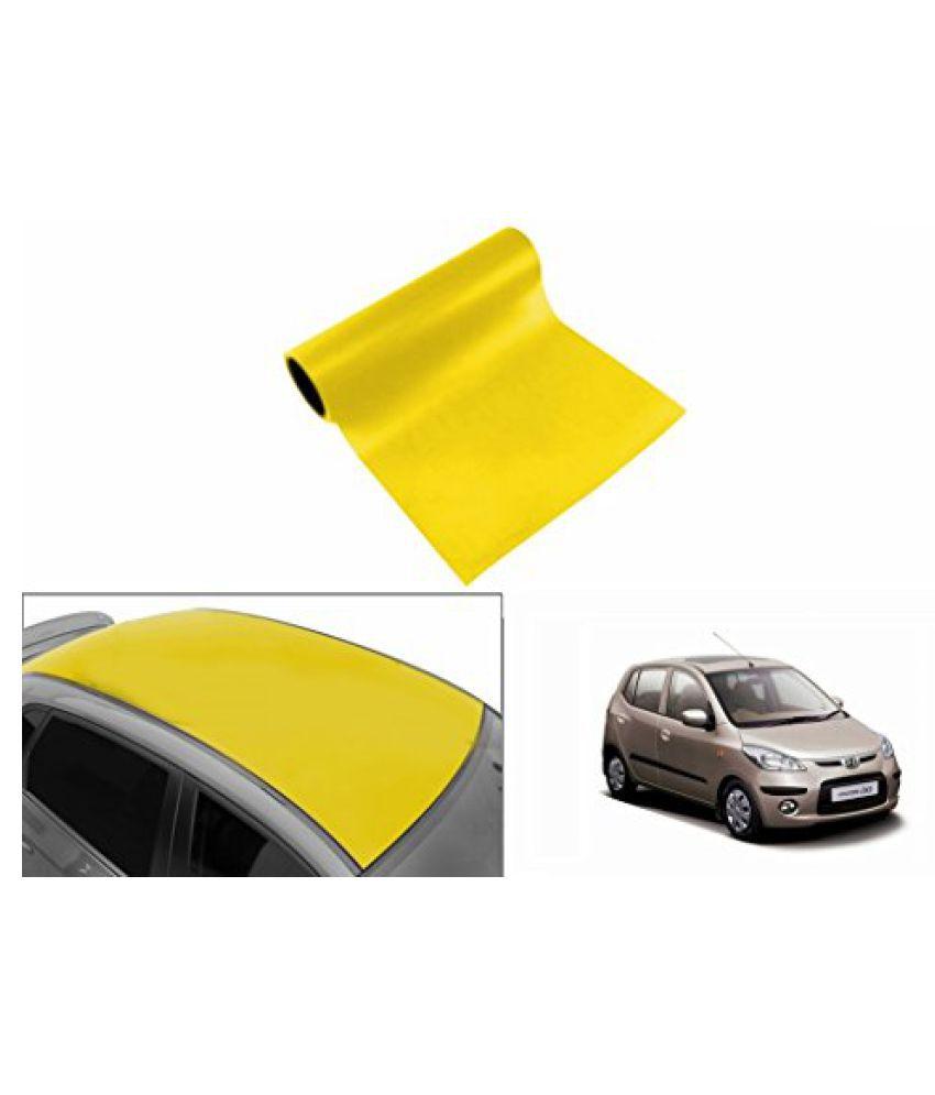 Speedwav Car Roof Glossy Wrap Sheet Neon Yellow-Hyundai i10 Type 1 (2007-2012)