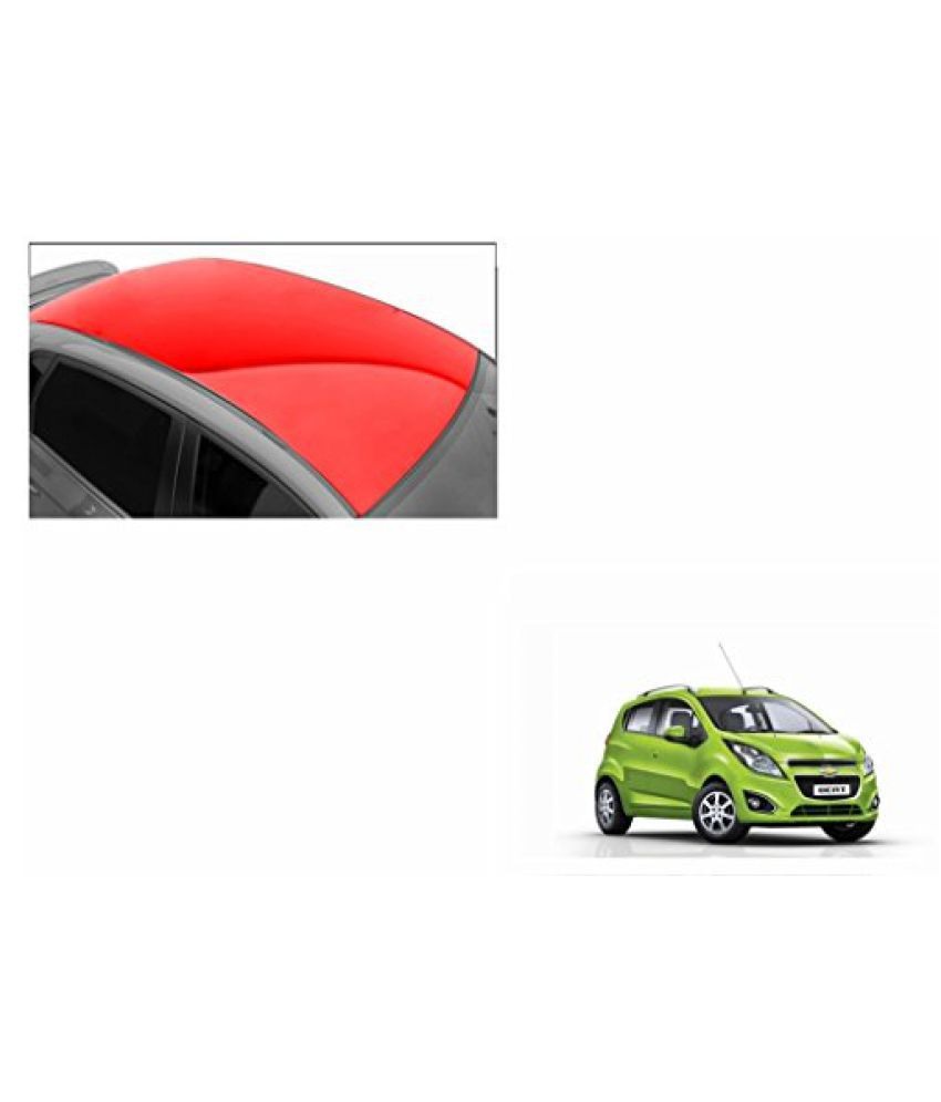 Speedwav Car Roof Glossy Wrap Sheet Red-Chevrolet Beat Type 2 (2014-2015)