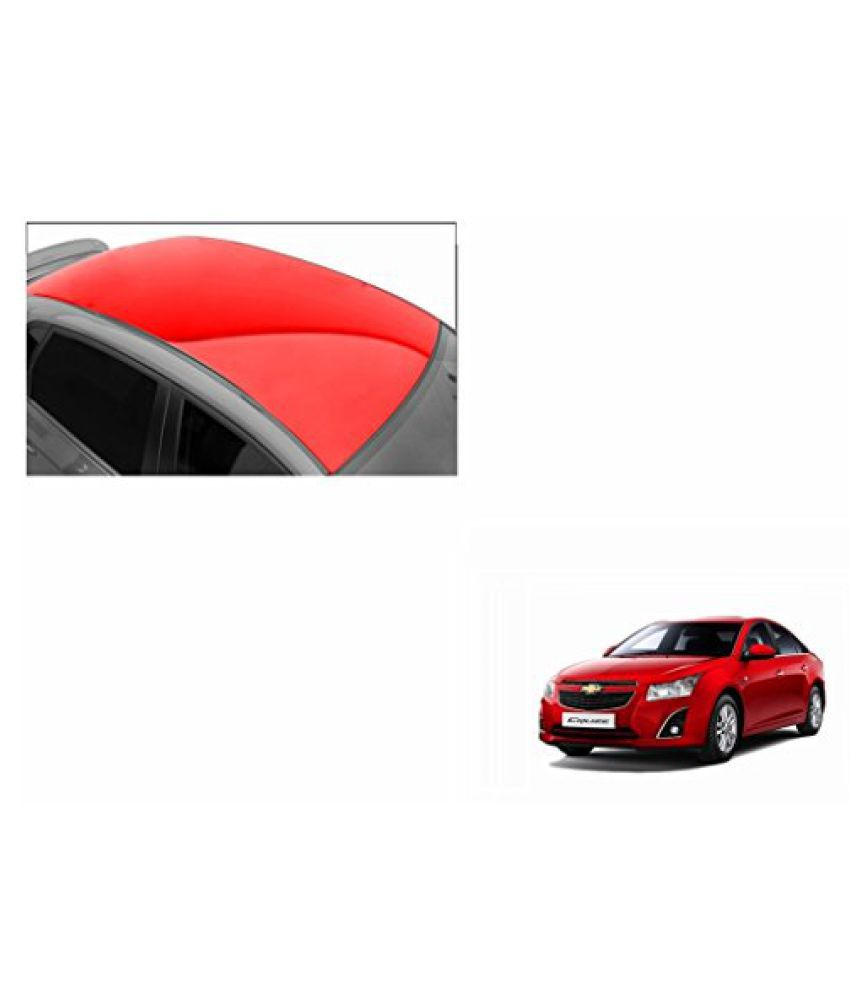 Speedwav Car Roof Glossy Wrap Sheet Red-Chevrolet Cruze Type 2 (2014-2015)