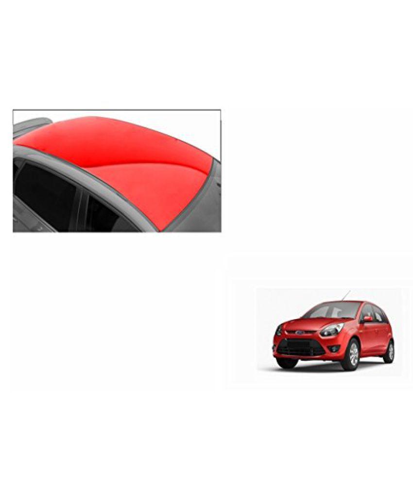 Speedwav Car Roof Glossy Wrap Sheet Red-Ford Figo Type 1 (2010-2014)