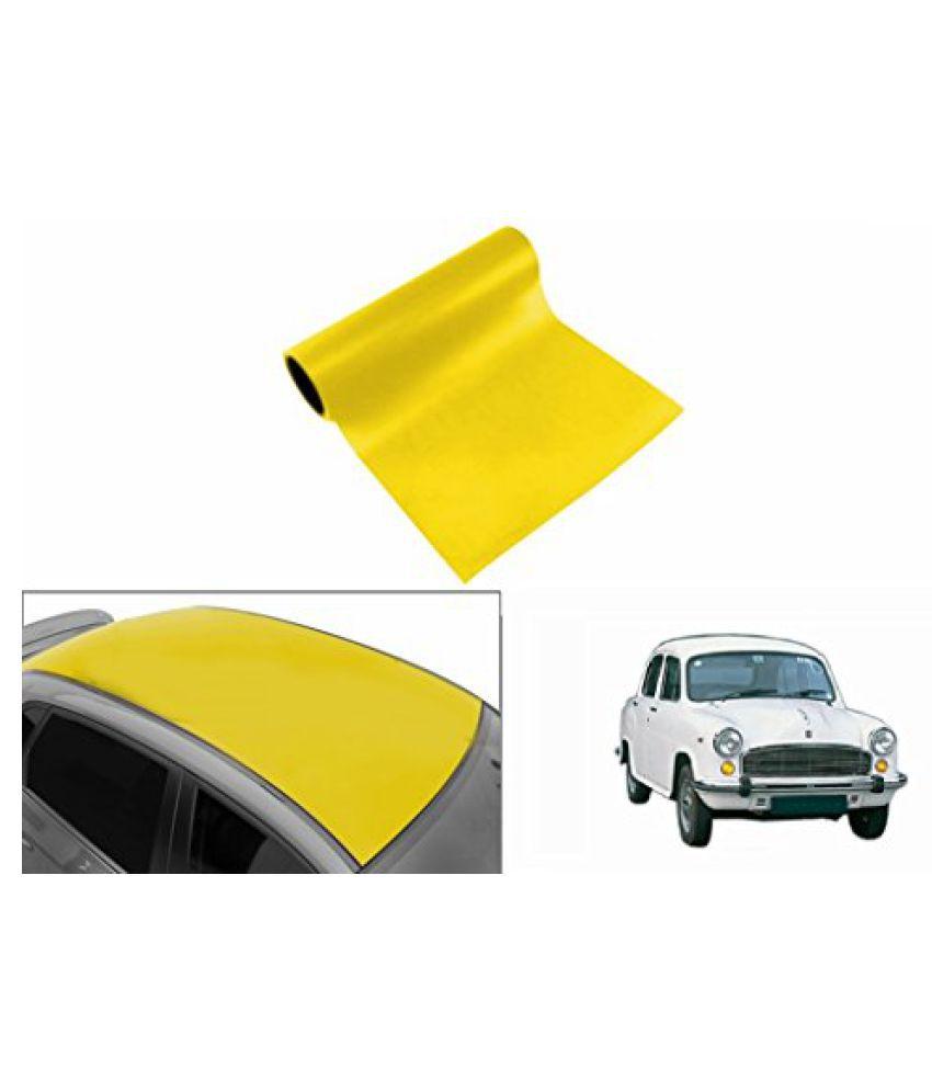 Speedwav Car Roof Glossy Wrap Sheet Neon Yellow-HM Ambassador Type 1 (1995-2001)