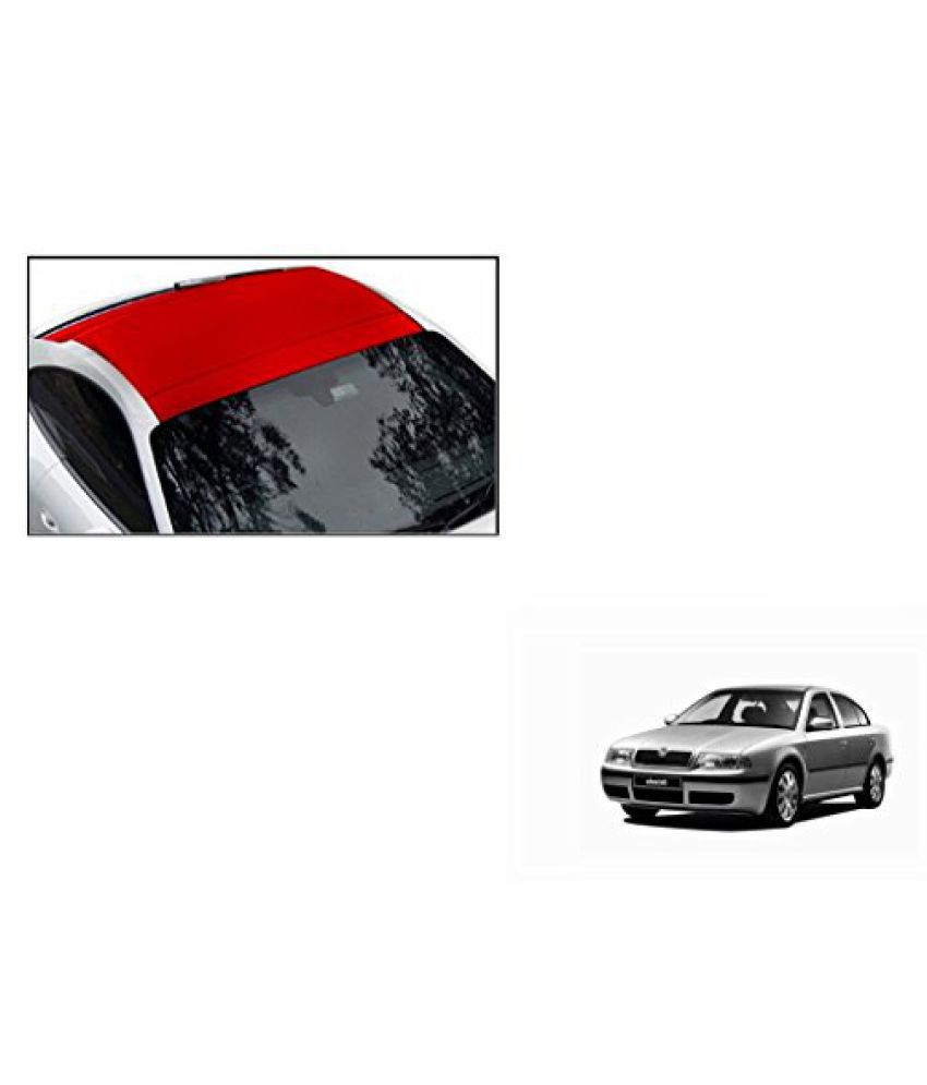 Speedwav Car Roof Wrap Sheet Matt Red-Skoda Octavia Type 1 (2001-2010)