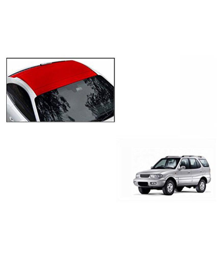 Speedwav Car Roof Wrap Sheet Matt Red-Tata Safari Type 1 (1998-2006)