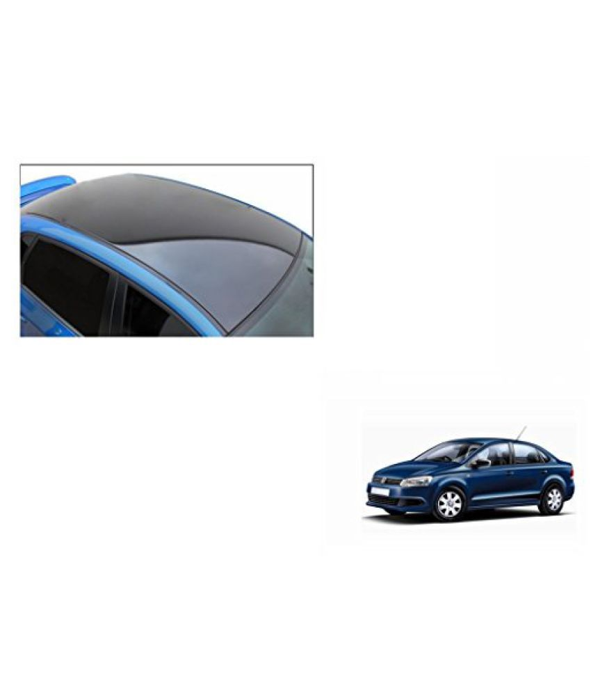 Speedwav Car Roof Wrap Sheet Glossy Black-Volkswagen Vento Type 1 (2010-2015)