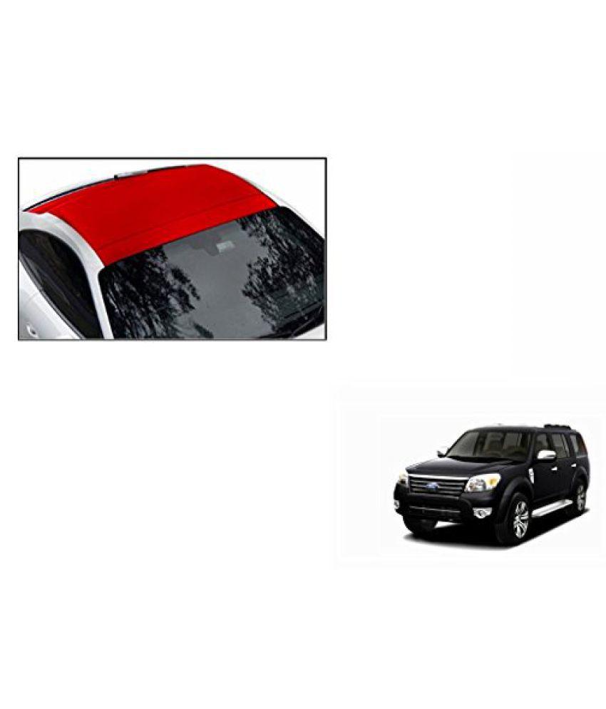 Speedwav Car Roof Wrap Sheet Matt Red-Ford Endeavour Type 2 (2007-2015)