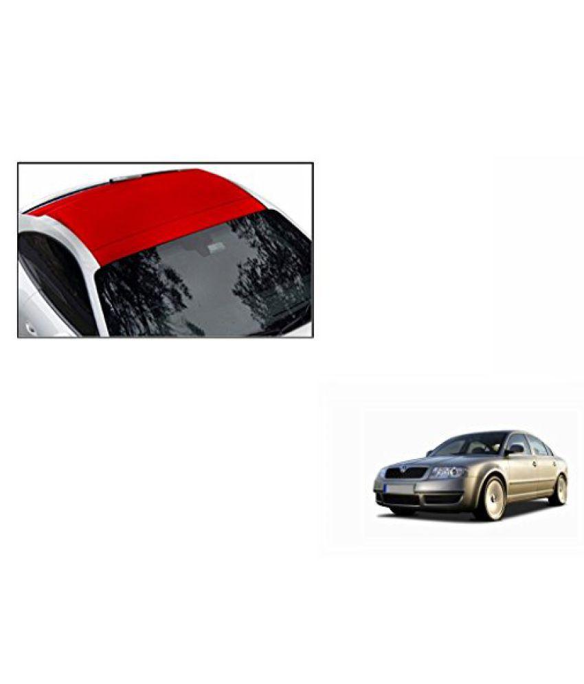 Speedwav Car Roof Wrap Sheet Matt Red-Skoda Superb Type 1 (2004-2010)