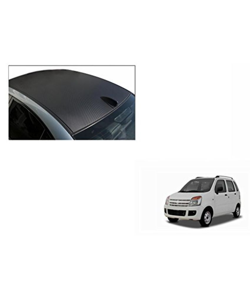 Speedwav Car Roof Wrap Sheet Carbon Design Matt Black-Maruti WagonR Type 2 (2003-2007)