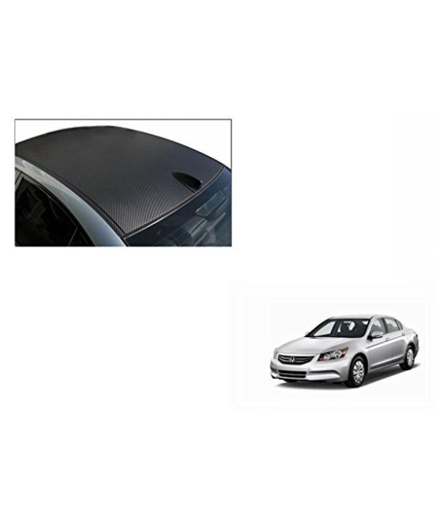 Speedwav Car Roof Wrap Sheet Carbon Design Matt Black-Honda Accord 2.4 Type 3 (2009-2011)