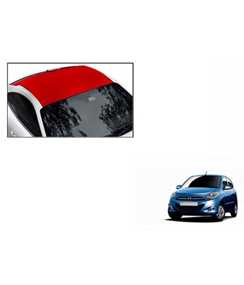 Speedwav Car Roof Wrap Sheet Matt Red-Hyundai i10 Type 2 (2012-2015)