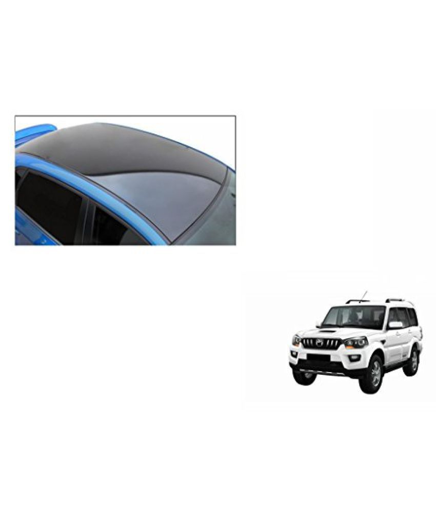Speedwav Car Roof Wrap Sheet Glossy Black-Mahindra Scorpio Type 3 (2014-2015)