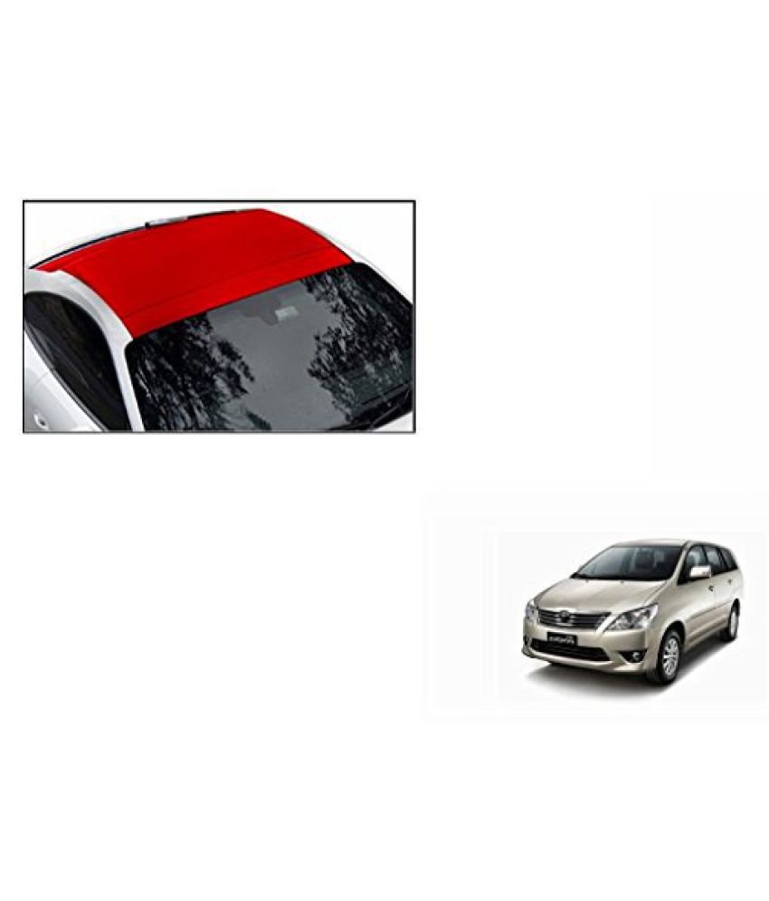 Speedwav Car Roof Wrap Sheet Matt Red-Toyota Innova Type 2 (2009-2011)