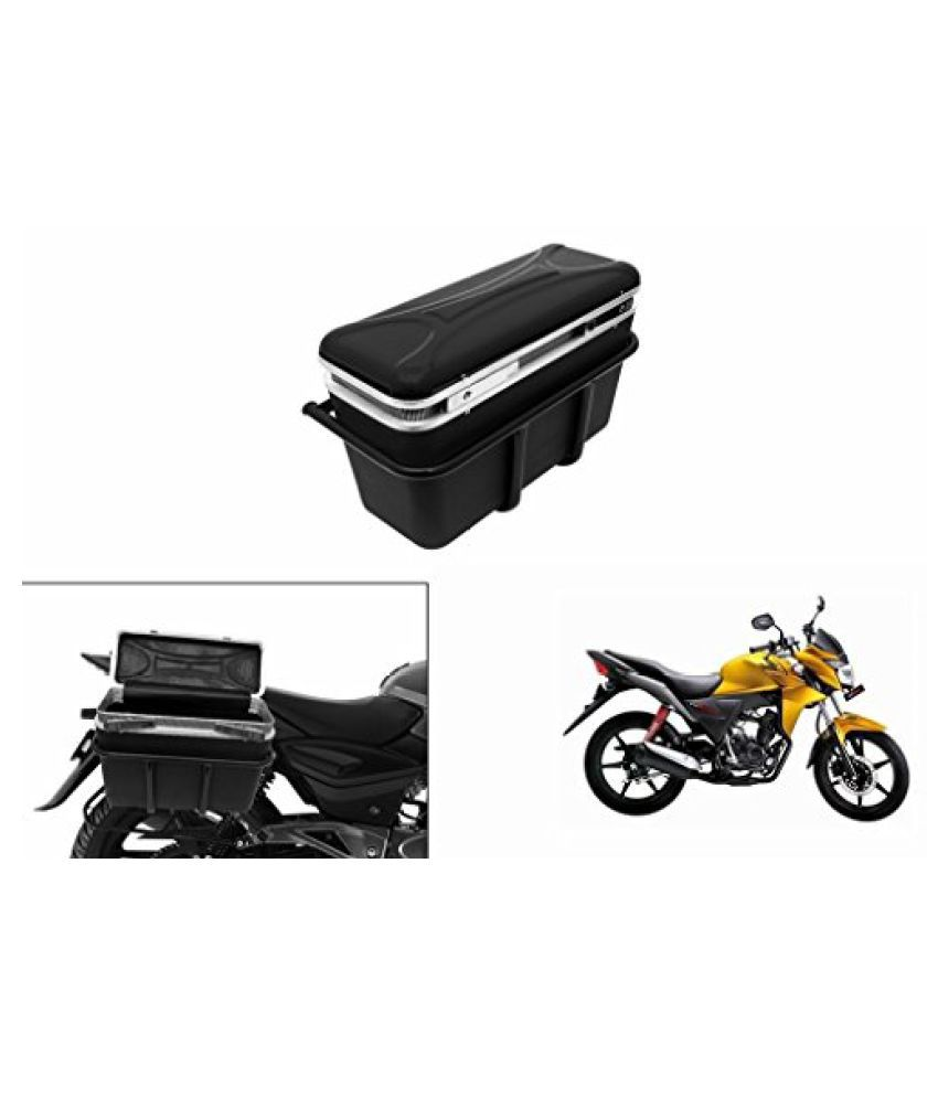 Speedwav DLB-1 Bike Double Lock Luggage Box Black-Honda CB Twister