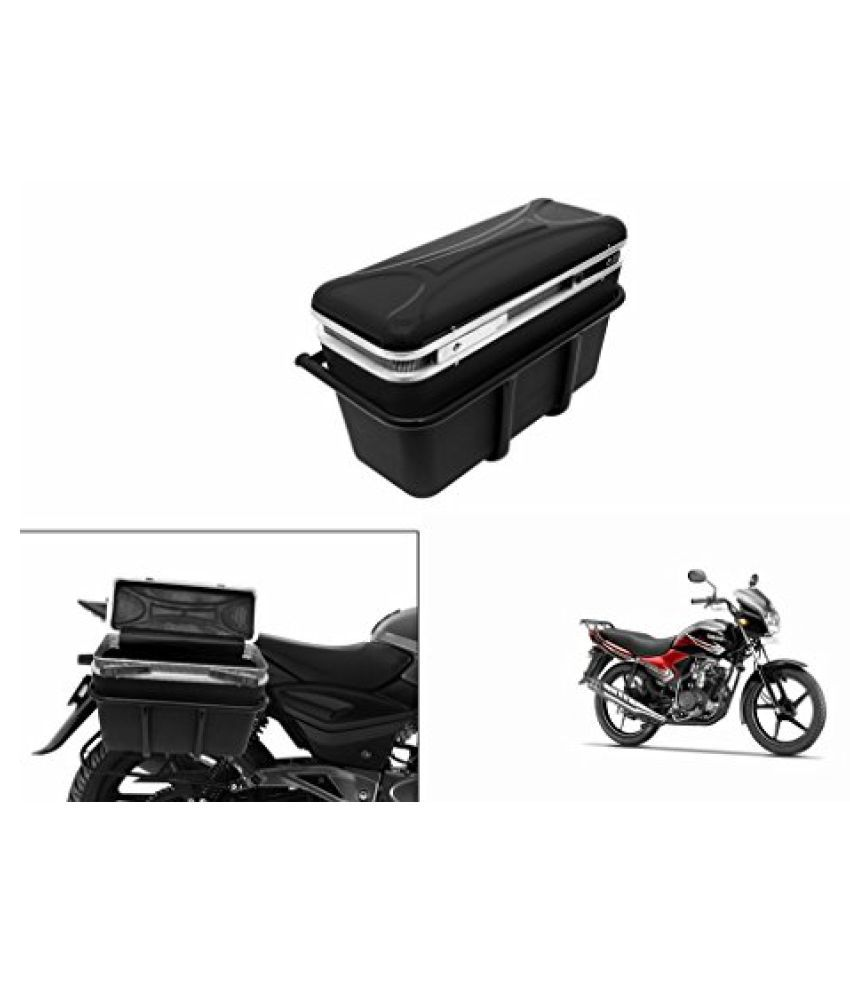 Speedwav DLB-1 Bike Double Lock Luggage Box Black-Yamaha YBR