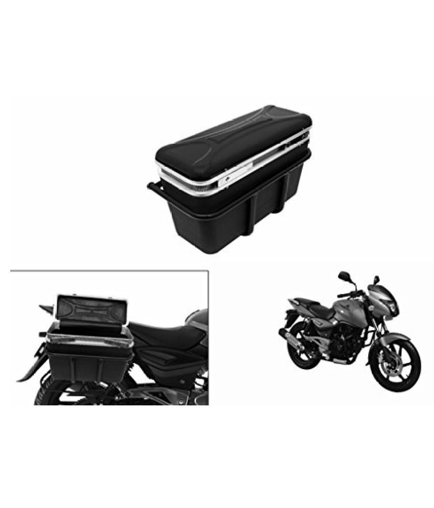 Speedwav DLB-1 Bike Double Lock Luggage Box Black-Bajaj Pulsar 180 DTS-i