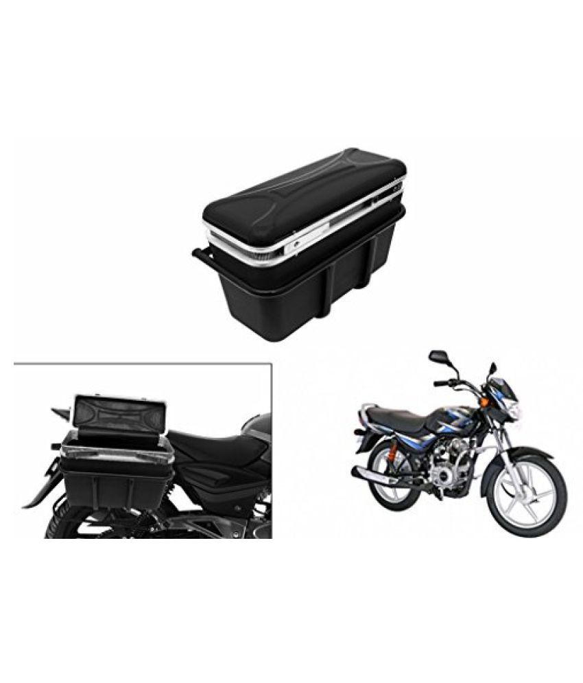 Speedwav DLB-1 Bike Double Lock Luggage Box Black-Bajaj CT 100