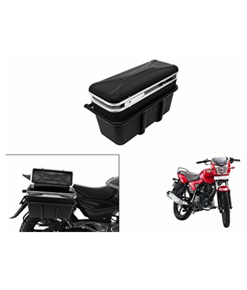 Speedwav DLB-1 Bike Double Lock Luggage Box Black-TVS Star City Sport