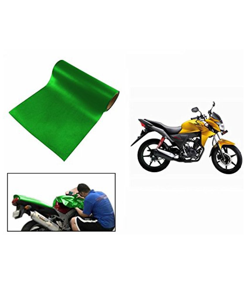 Speedwav Matt Green 3 Meter Bike Wrap Sheet-Honda CB Twister