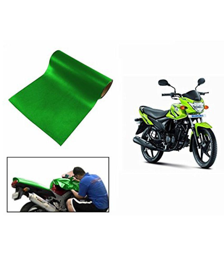 Speedwav Matt Green 3 Meter Bike Wrap Sheet-Suzuki Hayate