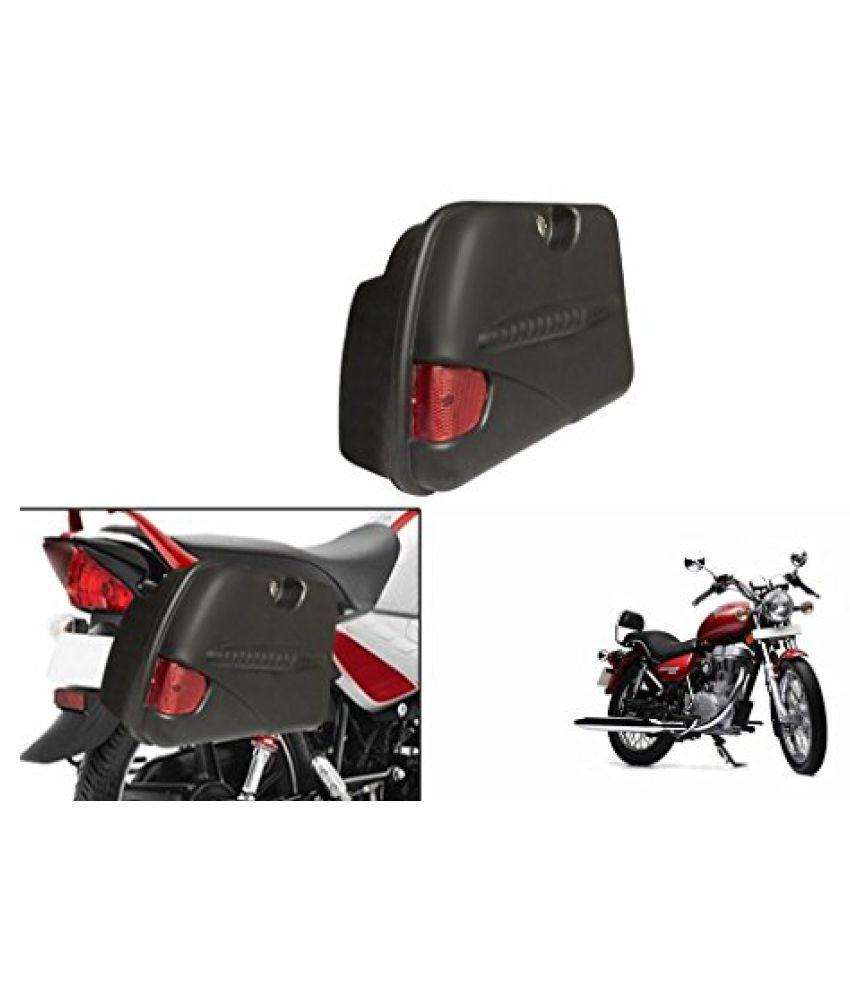 Speedwav SB-R Bike Side Box With Lock & Reflector Black-Royal Enfield Thunderbird 350 Type 1