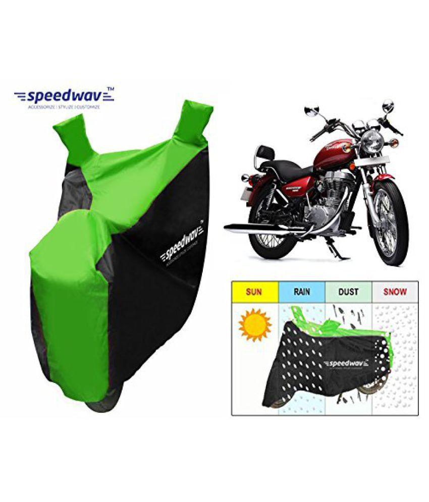 Speedwav Sporty Bike Body Cover Black & Green-Royal Enfield Thunderbird Type 1 350