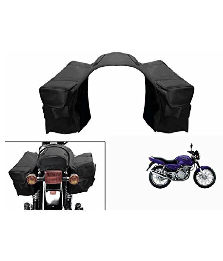 Speedwav Water Proof Bike Twin Saddle Bags Black-Bajaj Pulsar 150 Type 1