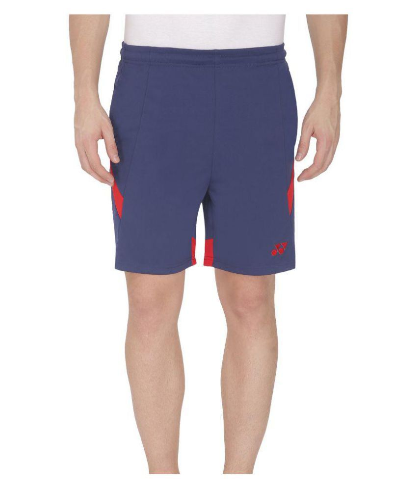 Yonex Blue Polyester Shorts