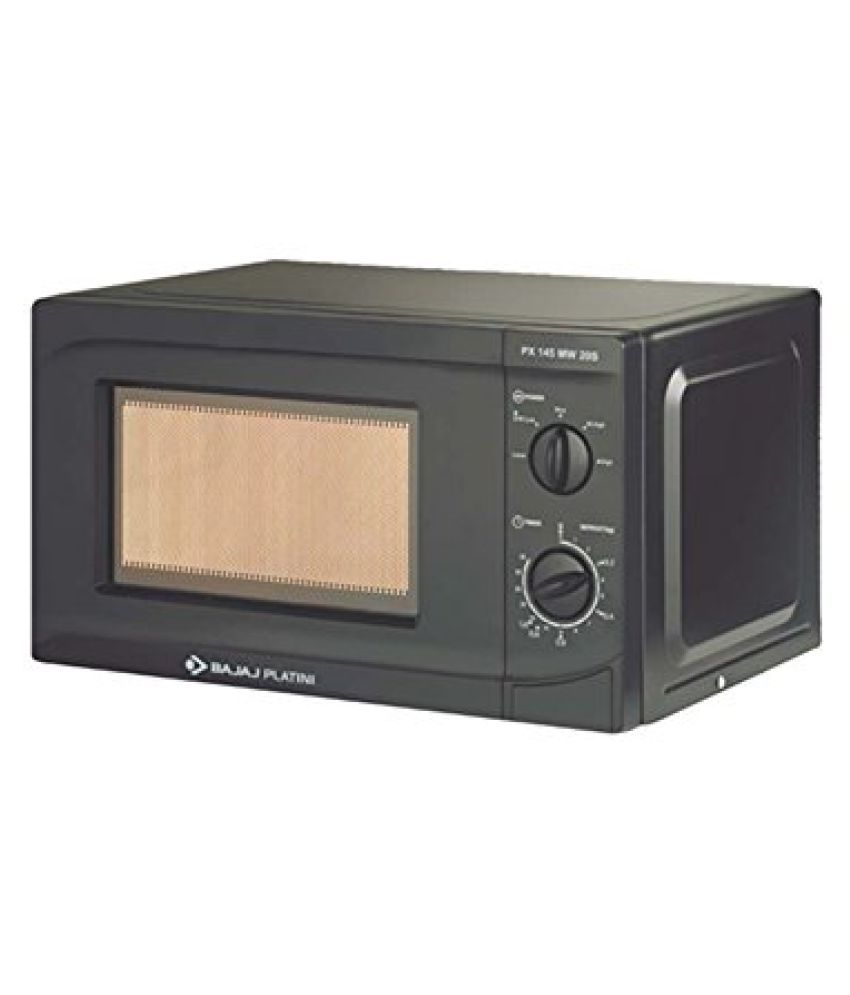 6f06962e2 Bajaj Platini 20 PX 145 MW 20S Solo Black Microwave Oven available at  SnapDeal for Rs